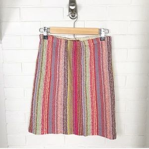 {Missoni} Vintage Knit Striped Pull On Skirt